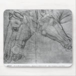 Heads of horses, from the The Vallardi Album Mouse Pad
