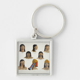 Heads of South American Indians, from 'Travels in Keychain