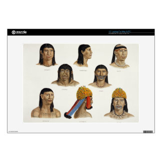 Heads of South American Indians, from 'Travels in Laptop Skin