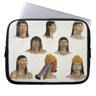 Heads of South American Indians, from 'Travels in Laptop Sleeve