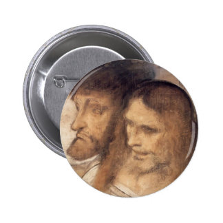 Heads of Sts Thomas and James by Leonardo Vinci Buttons