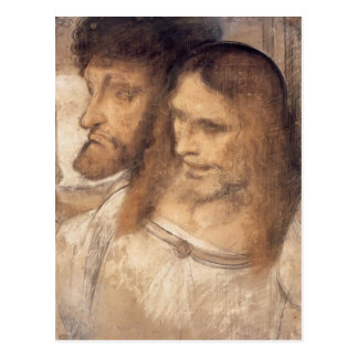 Heads of Sts Thomas and James by Leonardo Vinci Post Card
