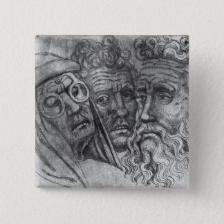 Heads of three men, from the The Vallardi Album Button