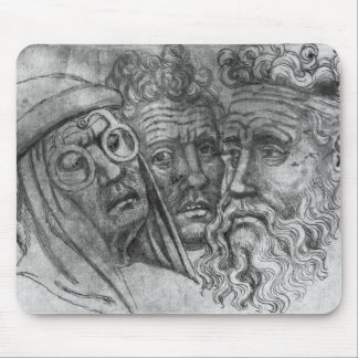 Heads of three men, from the The Vallardi Album Mousepads
