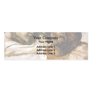 Heads of Torture Victims by Theodore Gericault Double-Sided Mini Business Cards (Pack Of 20)