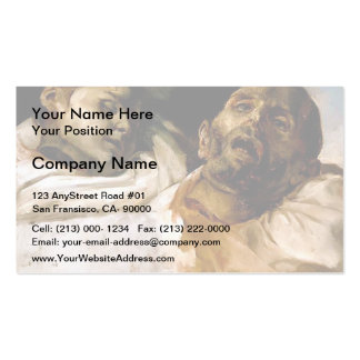 Heads of Torture Victims by Theodore Gericault Double-Sided Standard Business Cards (Pack Of 100)