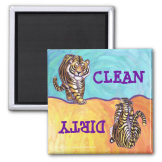 Heads Tails Tiger Dirty Clean Dishwasher Magnet