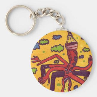 Heads up! basic round button keychain