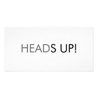 Heads up card