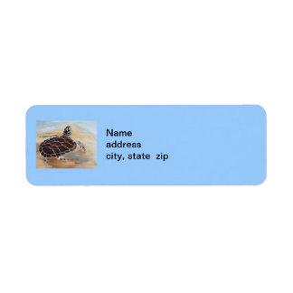 Head's Up Turtle Address Lable Label