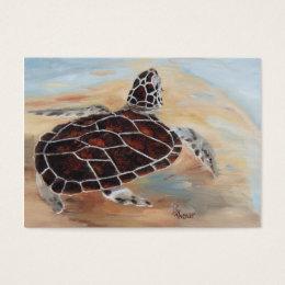 Head's Up Turtle Art Card
