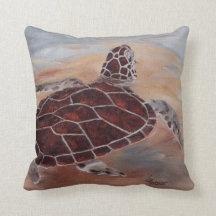 Head's Up Turtle Pillow