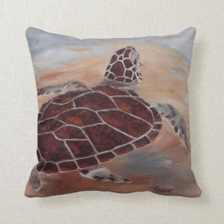 Head's Up Turtle Throw Pillow