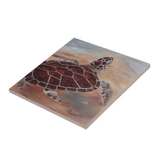 Head's Up Turtle Tile