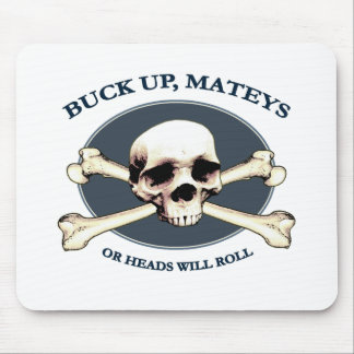 Heads Will Roll Pirate Skull Mouse Pad