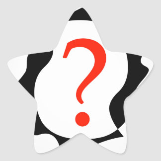 heads with a question mark star sticker
