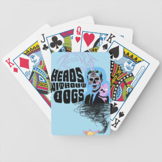 Heads Without Dogs Merch Design 2 Bicycle Playing Cards
