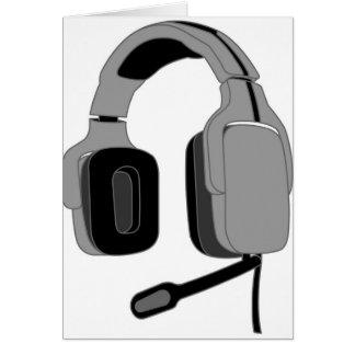 Headset Greeting Card