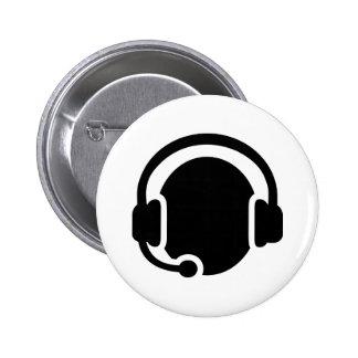 Headset headphones 2 inch round button