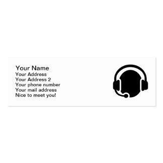 Headset headphones mini business card