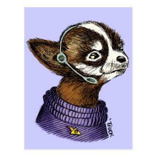 Headset Pup Postcard