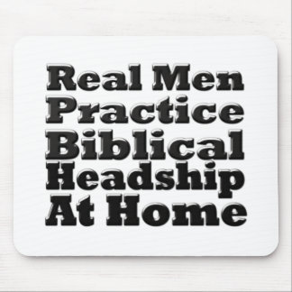 Headship bíblico de la práctica real de los hombre alfombrilla de ratones