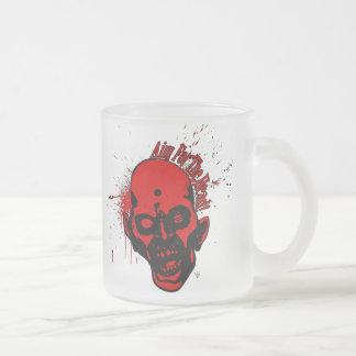 headshot2AimforHead1 Frosted Glass Coffee Mug
