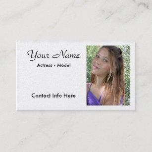 Actor business cards templates zazzle headshot actor business card template colourmoves