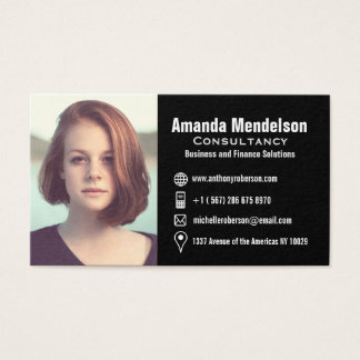 headshot business cards templates zazzle. Black Bedroom Furniture Sets. Home Design Ideas