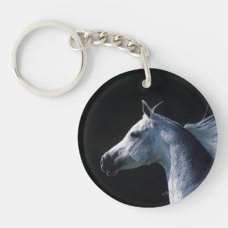 Headshot árabe 2 del caballo llaveros
