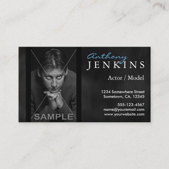 headshot black velvet backdrop actor business card zazzle com