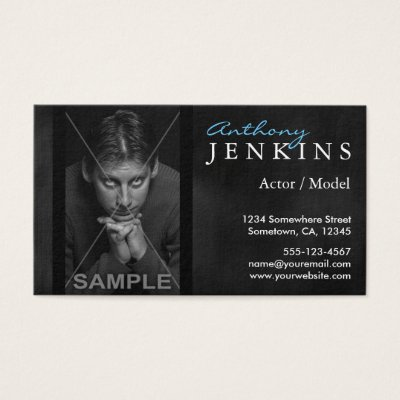 Cool leather frame custom photo actor business card zazzle colourmoves Choice Image