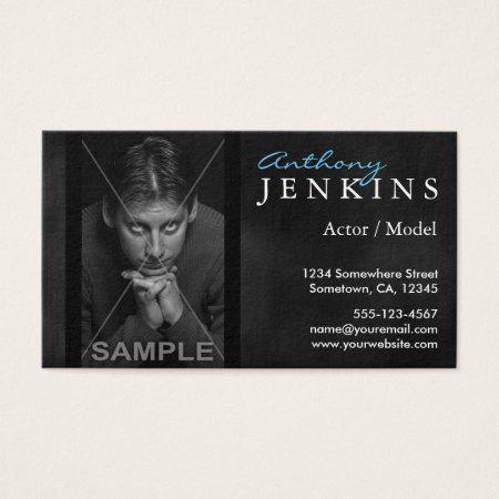 Headshot Black Velvet Backdrop Profilecards Actor Business Card Templates