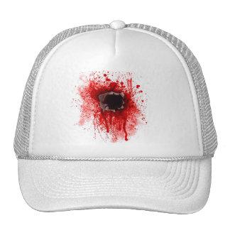 Headshot bullet hole cap hat