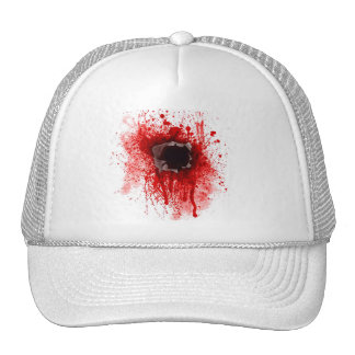 Headshot bullet hole cap trucker hat