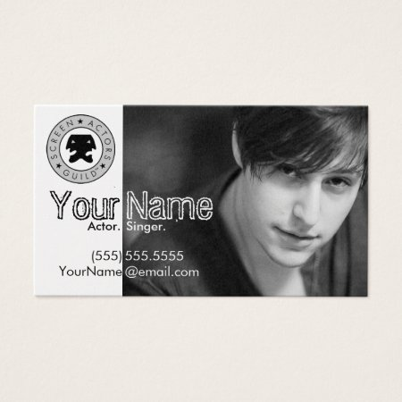 Headshot Business Card for the Working Actor Calling Card