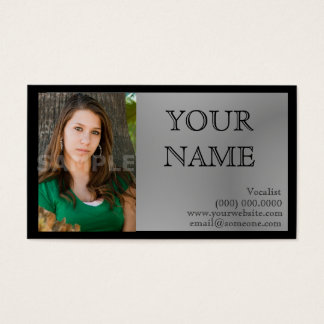 Headshot Business Cards Black/Gray