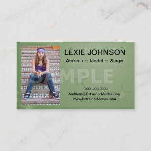 Theatre business cards templates zazzle headshot business cards models actors 2 sided colourmoves