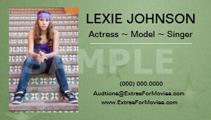Actor business cards templates zazzle headshot business cards models actors 2 sided colourmoves