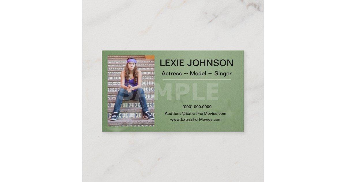 Headshot Business Cards - Models & Actors 2 Sided | Zazzle.com
