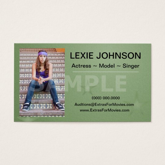 Headshot Business Cards Models Actors 2 Sided Zazzle Com