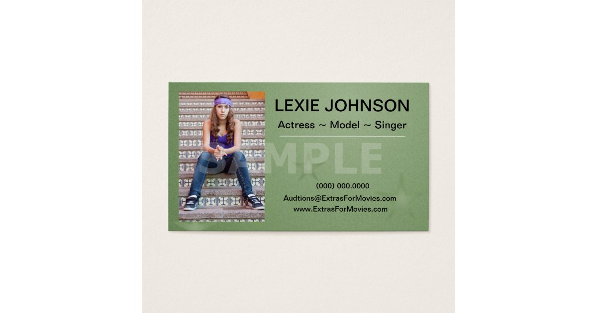 Headshot Business Cards - Models & Actors 2 Sided | Zazzle.com