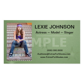 Headshot Business Cards - Models Actors 2 Sided
