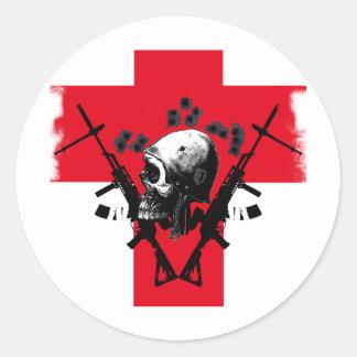 headshot classic round sticker