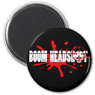 Headshot   del auge imán redondo 5 cm
