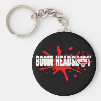 Headshot   del auge llavero redondo tipo pin