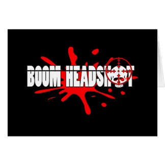 Headshot   del auge tarjeta de felicitación