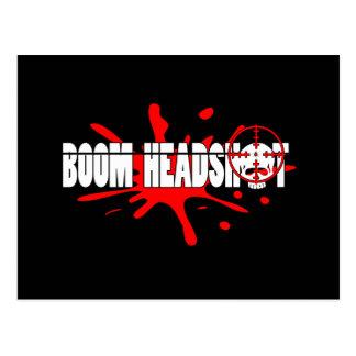 Headshot   del auge tarjetas postales