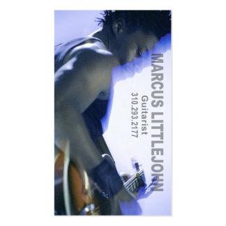 Headshot del guitarrista para el músico tarjetas de visita