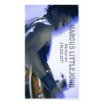 Headshot del guitarrista para el músico tarjeta de negocio